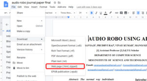 Download Images from Google Docs