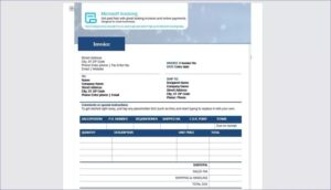 Requirement Microsoft Invoice