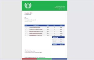 Education Invoice