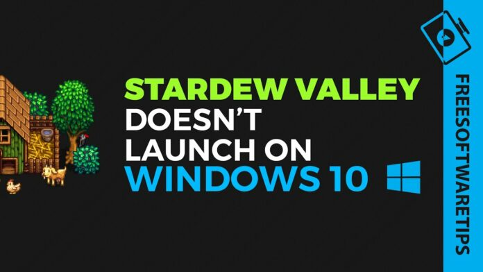 stardew valley wont launch issues