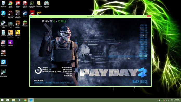 PayDay 2 Not Launching 2021 On Windows 10 PC