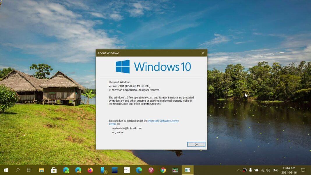 windows 10 version 21h1 build 19043 899