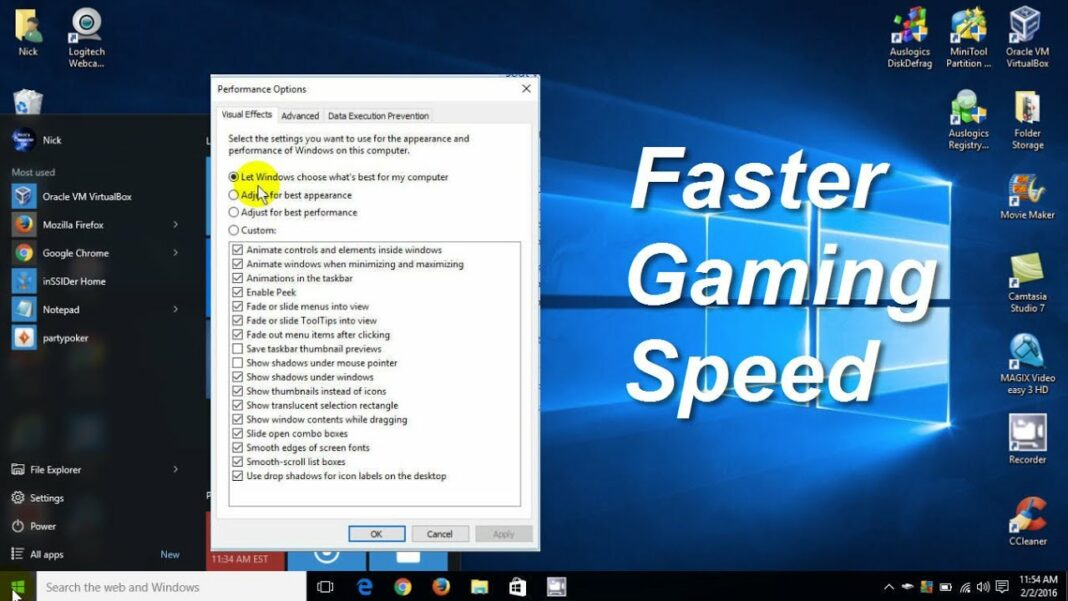 How To Run Specific Programs With Maximum Speed In Windows Laptops
