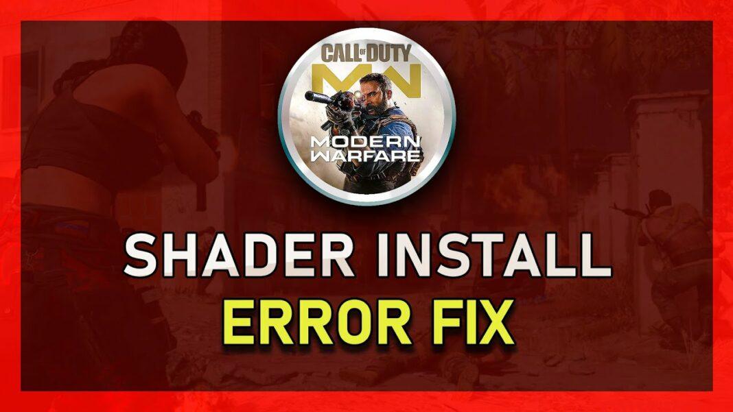 Modern Warfare installing shaders stuck