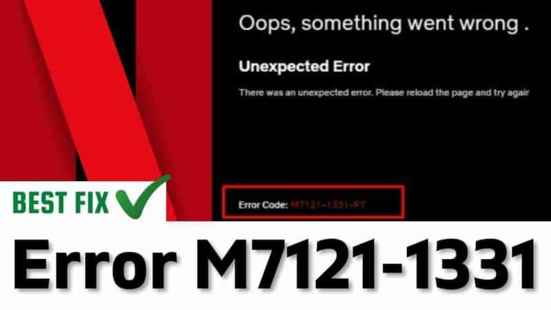 error code: m7121-1331-2205